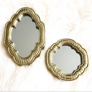 Gold Hanging Wall Mirror Set Boho Eclectic Decor